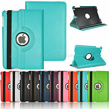 360 Rotating Leather Case Smart Cover Swivel Stand For iPad Mini 2 3 Retina