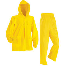 New Stearns Industrial 3-PC PVC Vinyl Rain Suit w/ Jacket, Pants & Hood #STE8000