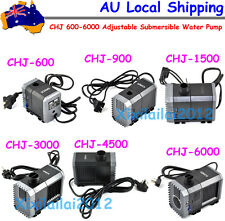 160-1600GPH  600-6000L/H Adjustable Submersible Water Pump Aquarium Pond Sump AU