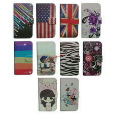 For Alcatel One Touch Magnetic cartoon floral Wallet flip case Cover holder