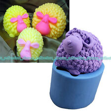 3D lovely Sheep Soap Mold Silicone Chocolate Soap Mould Candle Mould Resin Tool