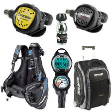 Cressi Travelight BCD Scuba Diving Gear Travel Package Set - Limited Quantity