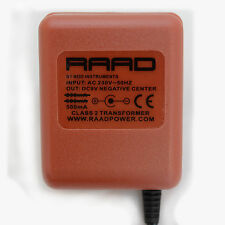 RAAD regulated power supply DC 9V adapter guitar effect pedal wall wart negative