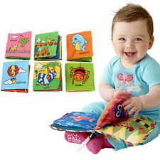 Soft Safe Cloth Baby Kid Intelligence Development Learning Picture Cognize Book