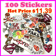 Fashion 100pcs Luggage Stickers Car Skateboard Decorative Decal Waterproof