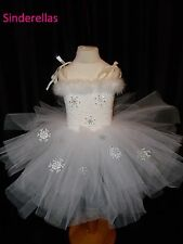 Ice Queen dress & Snowflakes Like Frozen Style White Tutu dress ages 2-10