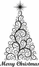 Christmas Tree Merry Christmas Wall art sticker Window Decoration Vinyl Decal
