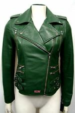 New Attractive Motorcycle Buckle Front Nappa Leather Jacket For Women EHS W- 55