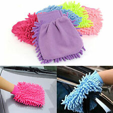 MICROFIBRE ALL PURPOSE CLEANING GLOVE CAR WASH MITT CLOTH DUSTER FOR HOUSE