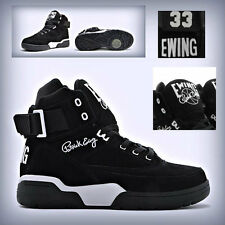 Men's Patrick Ewing 33 Hi BLACK/WHITE SUEDE  1EW90013-018