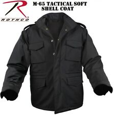 Black Military Police Security Soft Shell Tactical M-65 Field Jacket Coat 5247