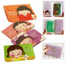 Cute Girls Lady ID Credit & Business Card Holder Pocket Wallet Bag Case 12 Slots