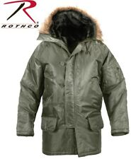 Sage Green Cold Weather N-3B Military Style Flight Jacket Snorkel Parka 9387 A
