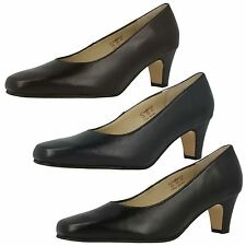 Ladies Equity Wide Fitting Court Shoes Valerie