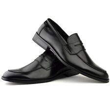 Mens Fashion New Black Leather Shoes Formal Smart Dress UK Size 6 7 8 9 10 11