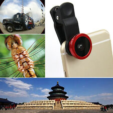 Universal 3in1 Clip On Camera Lens 180° Fisheye + Wide Angle + Macro for Phones