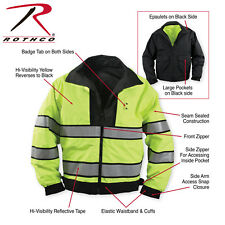 POLICE Black & Yellow Reversible Hi-Visibility Safety Waterproof Jacket No.8720