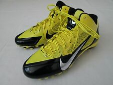 New Mens 10 Nike Flywire Alpha Pro 3/4 TD Football Shoes, Yellow/Black $94