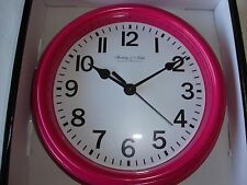 Wall Clock w/Hot Pink Frame (New)