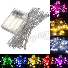 10/20/30/40 LED Xmas  Navidad Wedding Party String Fairy Light Lamp AA Battery