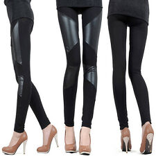 NEW CHEAP FASHION Women PU Leather Trousers Leggings Stretch Shiny Comfty Pants