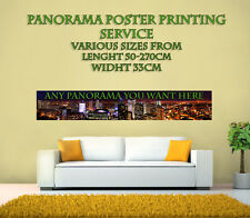 Panorama /Panoramic Poster Photo Printing Service, Any size from 50-270 cm x33cm