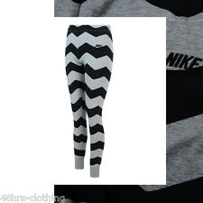 NEW NIKE LADIES WOMENS PATTERNED CUFFED LEGGINGS FITNESS GYM WORK OUT ZIG ZAG