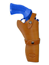 "NEW Barsony Tan Leather Western Style Gun Holster for Astra Beretta 6"" Revolvers"