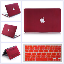"""Wine Red Quicksand Hard Case Keyboard Cover For MacBook Air PRO 11"""" 13"""" 15""""inch"""
