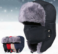 New Unisex Men Winter Trapper Aviator Trooper Earflap Warm Ski Hat With Mask