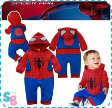 BABY TODDLER BOYS  SPIDERMAN OUTFITS PLAYSUIT BODYSUIT ONESIE BABYGROW SUIT SETS