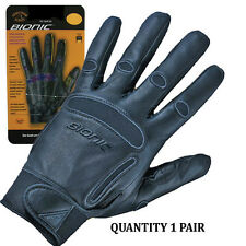 1 Pair Bionic Mens Equestrian/Horse Riding Gloves. Full Leather construction