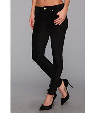 7 For All Mankind Jeans THE SUEDED SKINNY Stretch Black Leggings Pants