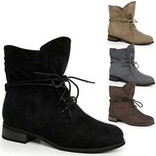 Ladies Womens Mid Low Heel Faux Suede Pixie Booties Ankle Boho Boots Shoes Size