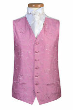 MENS AND PAGE BOYS PINK SWIRL WEDDING DRESS PROM TUXEDO WAISTCOAT M L XL 2XL 3XL