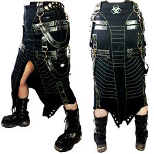 Cryoflesh Biohazard Decay Cyber Goth Industrial Gothic Long Skirt