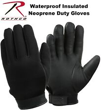 Black Waterproof Insulated Neoprene Military Duty Gloves 3558