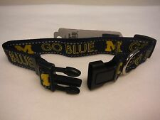MICHIGAN WOLVERINES DOG COLLAR-MICHIGAN DOG COLLAR- BEST ON EBAY