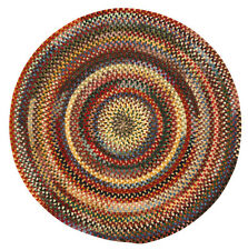 Capel Rugs Eaton Wool Soft Chenille Braided Casual Country Round Rug #900 Multi