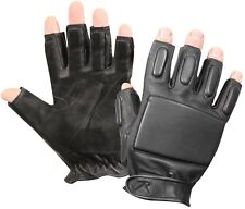 Black Tactical Military & Police Security Fingerless Rappelling Gloves 3454
