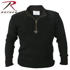 BLACK Military 1/4 Zip Up Tactical Commando Sweater 3390