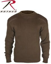 BROWN Military Army Commando Crew Neck Acrylic Sweater 5415
