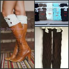 Women's Nice Bohemian Knit Lace Leg Warmers Boot Socks Boot Cover,6 Colors