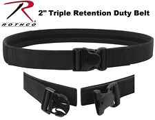 Police & Security EMT Black Deluxe Triple Retention Tactical Duty Belt 10775
