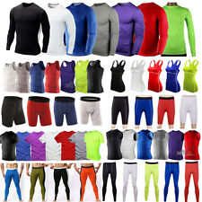 Mens/Womens Sport Compression Base Layers Tops Tight T-Shirts/Vests/Pants Shorts