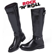 2014 Sreet PUNK Rock-TOP COOL # MEN'S High Knee Equestrian Cowboy Army Boot-MK98