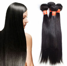 Remy Brazilian 100% Human Hair Extensions Straight 100g Wholesale 6A DIY clips