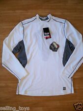 New with tag Nike Mens Pro Combat White Shield fitted hyperwarm Shirt 479936-101