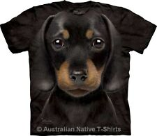 Dachshund Doxie Puppy Face Adults Dog Breed T-Shirt by The Mountain - Free Post!