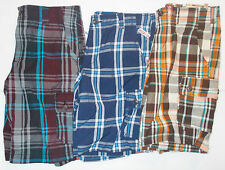 Arizona Jean Co. Boys Plaid Cargo Shorts Various Colors and Sizes to Choose NWT